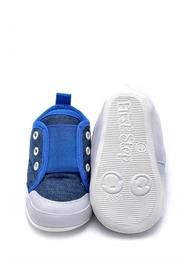 First Step Bebek Geniş Lastikli Patik Kot Mavi